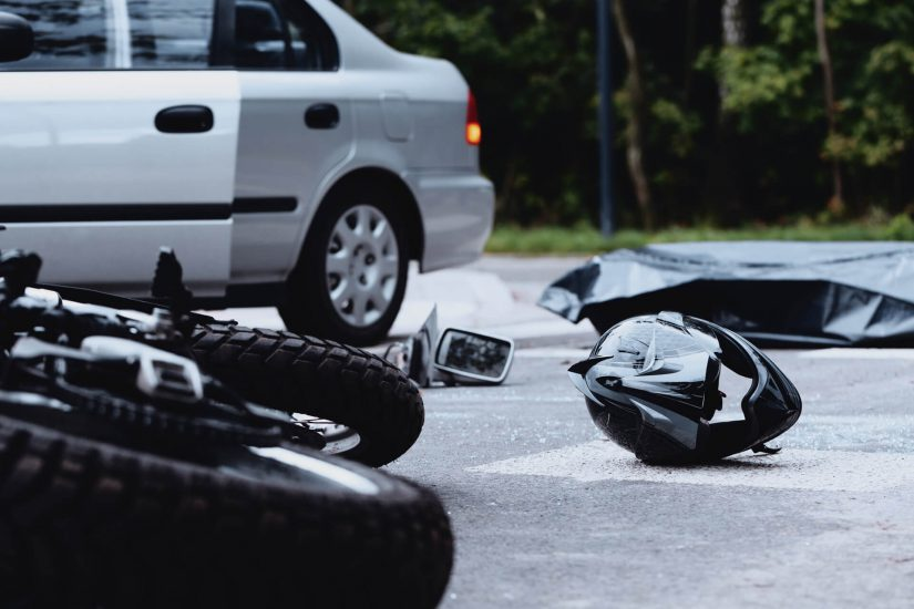 Photo of motorcycle accident