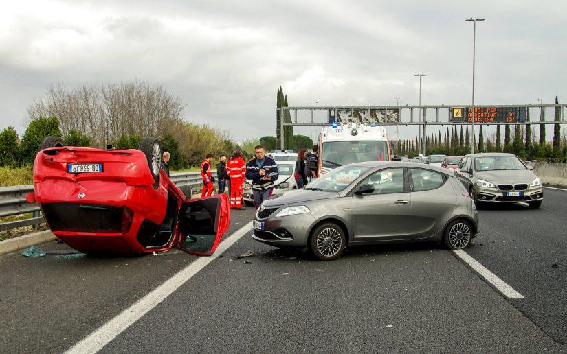 photo of highway crash