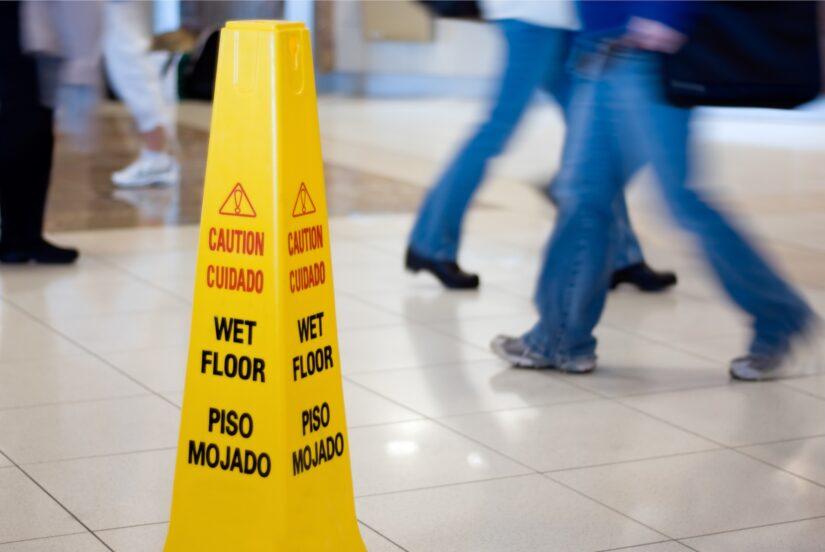 Photo of wet floor