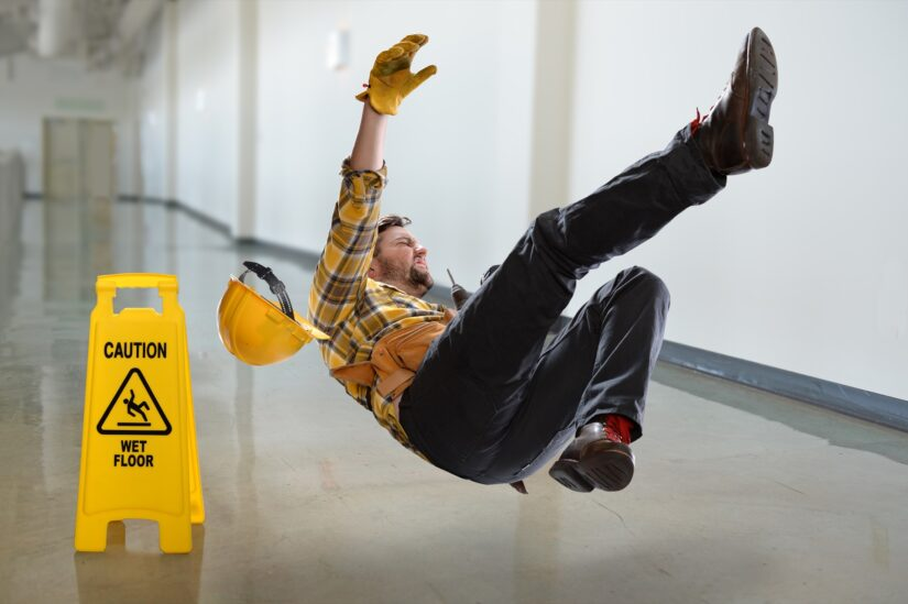 Person slipped on wet floor