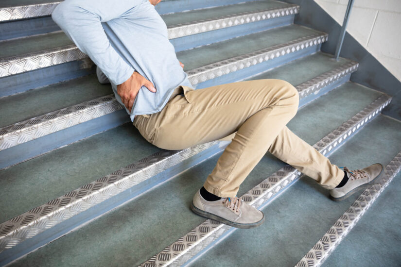 Photo of person fallen on stairs